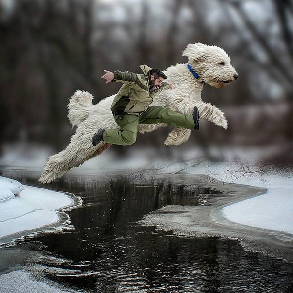 犬を大きくする!そんな夢をフォトショップの画像加工 (19)