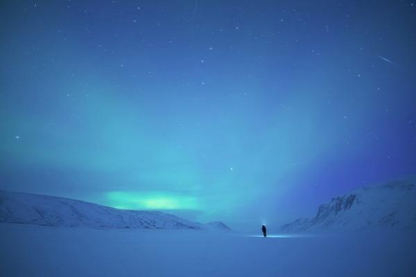 フィンランド北欧の美しい夜空。満天の星の画像 5