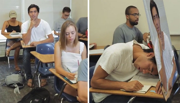 授業中に居眠りしても大丈夫なナイスアイディア