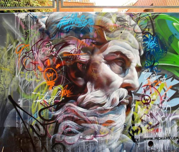 神々しいストリートアート