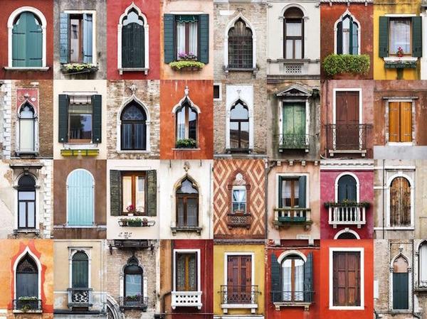 イタリア、ヴェネツィアの玄関ドア
