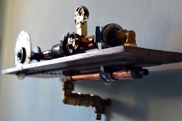 スチームパンクっていいよね。真鍮、銅、金属部品で作る家具 (16)
