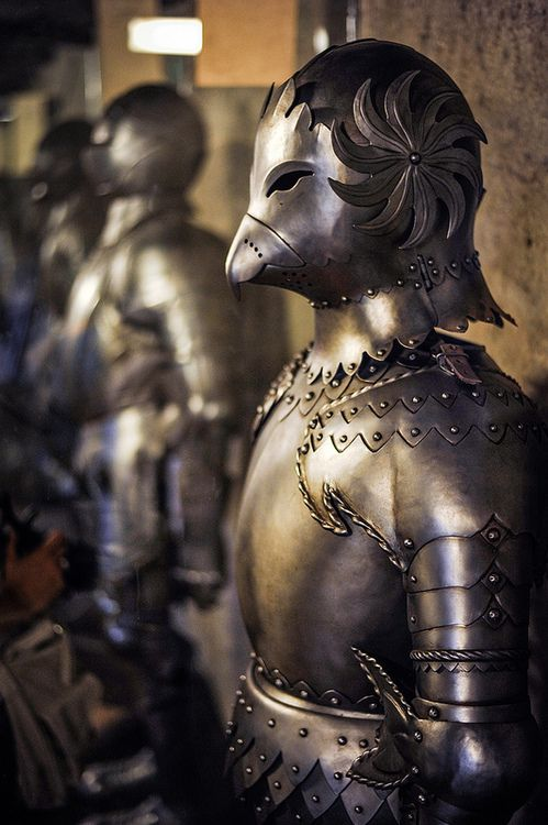 プラハ城の鎧バードスーツ