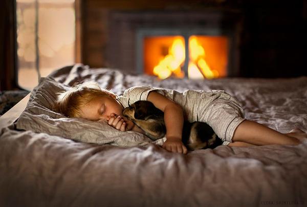 ペットは大切な家族!犬や猫と人間の子供の画像 (96)