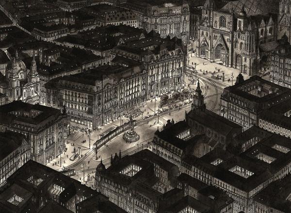 超精密!記憶を頼りに世界の都市景観を描くモノクロ絵画 (6)