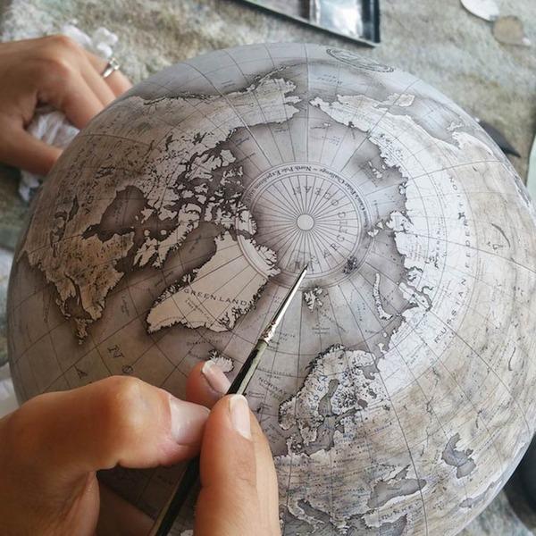 世界を旅したくなる。価値ある手作り地球儀の製作現場 (7)