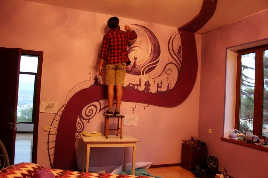 - Murales camera da letto ...