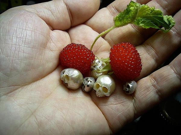 歯もあるよ!日本人デザイナーによる真珠の頭蓋骨 (7)