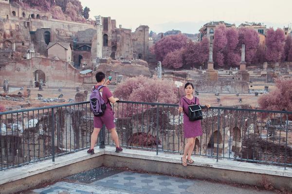赤外線カメラで撮影されたイタリア・ローマの景色が幻想的 (10)