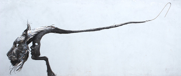 オオヤマネコの金属彫刻 3