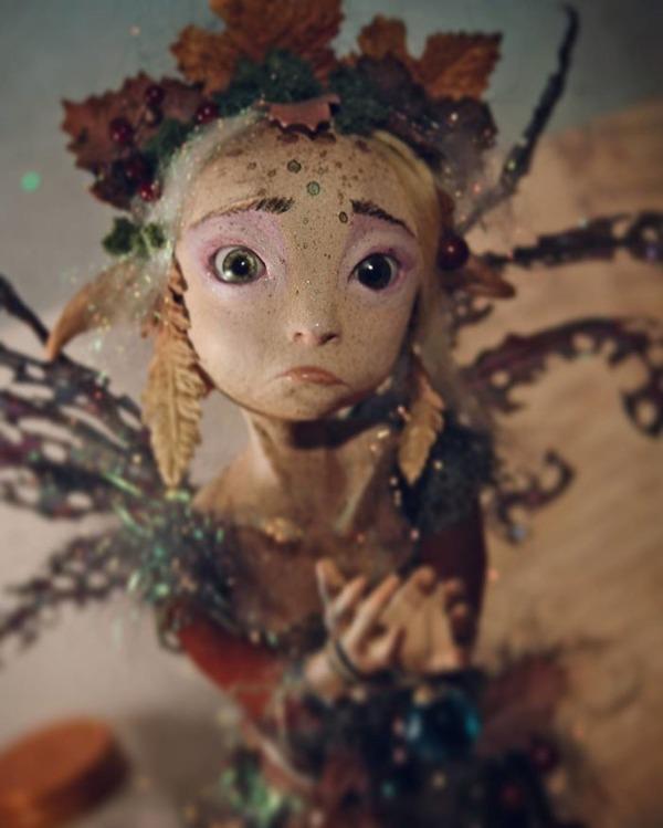 キモカワ!?ポリマークレイ製の手作りクリーチャー人形 (11)