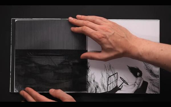 縞模様のフィルムを左右に動かすとアニメになる絵本『Vento』 (2)