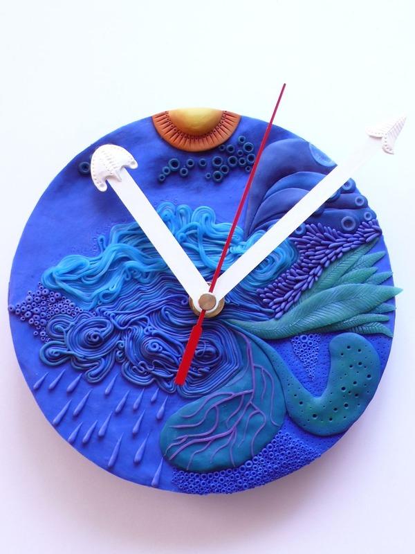 デコケーキっぽい壁掛け時計 (10)