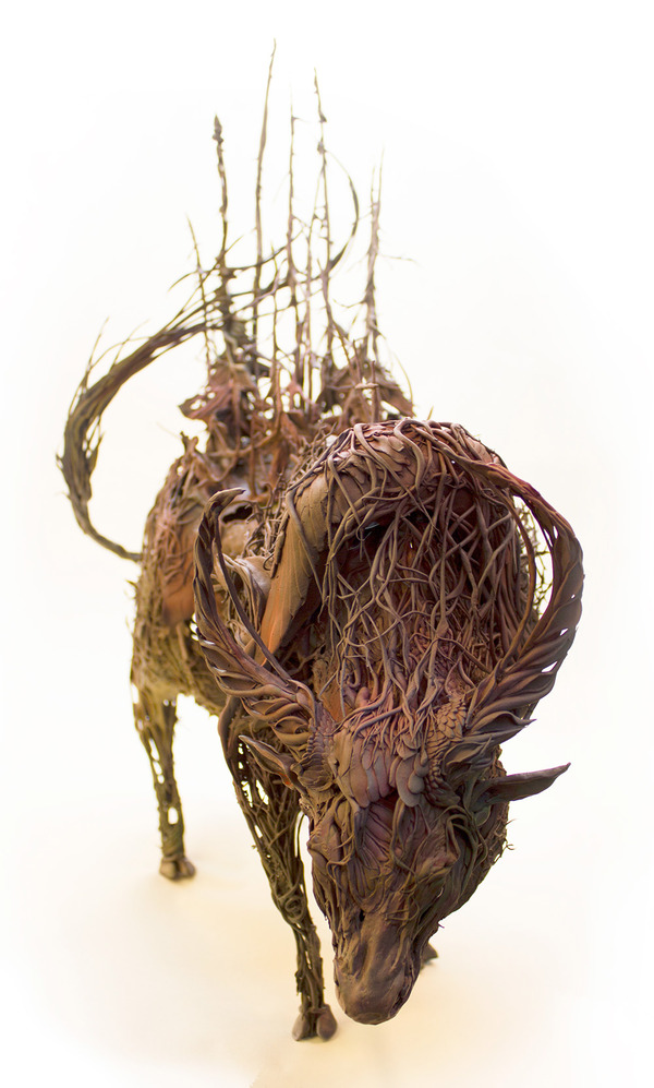 動物と植物が融合した幻想的な彫刻!Ellen Jewettの新作紹介 (4)
