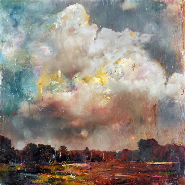 空想と現実の調和。絵と写真を融合させた絵画作品 (5)
