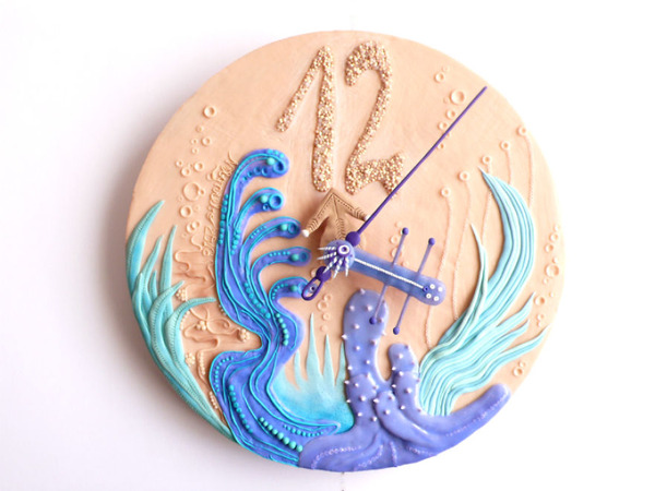 デコケーキっぽい壁掛け時計 (9)