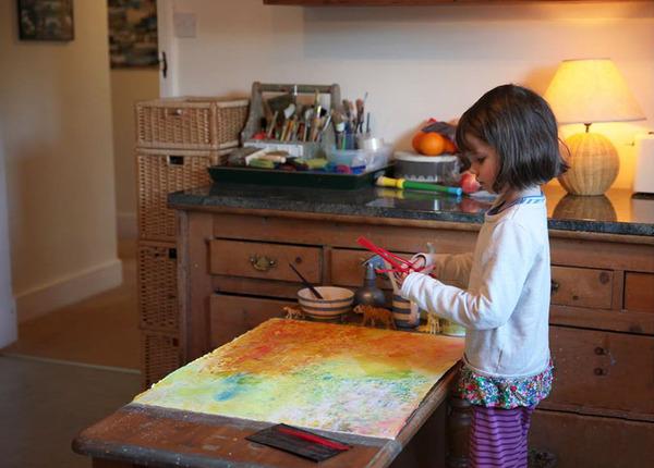 自閉症の6歳の少女が描く絵画が美しい! Iris Grace  (4)
