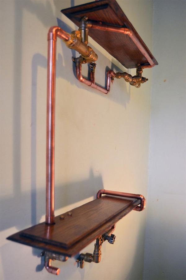 スチームパンクっていいよね。真鍮、銅、金属部品で作る家具 (12)