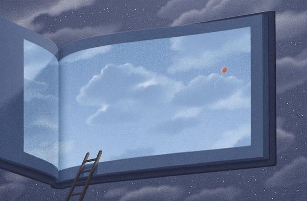 色んな本の形。本をモチーフにしたイラスト (11)