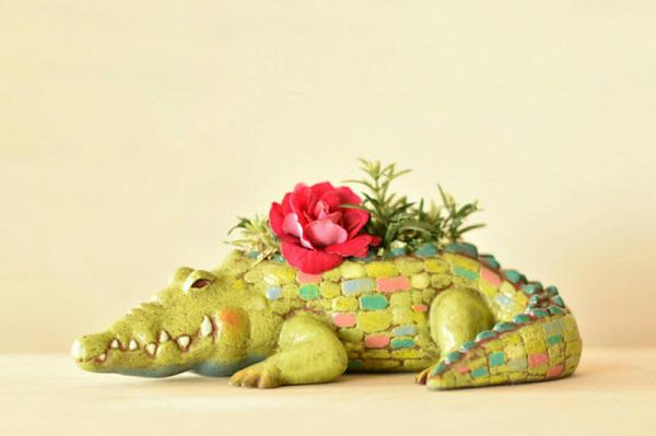 動物や植物な樹脂製アートプランター!『HARIMOGURA』 (10)