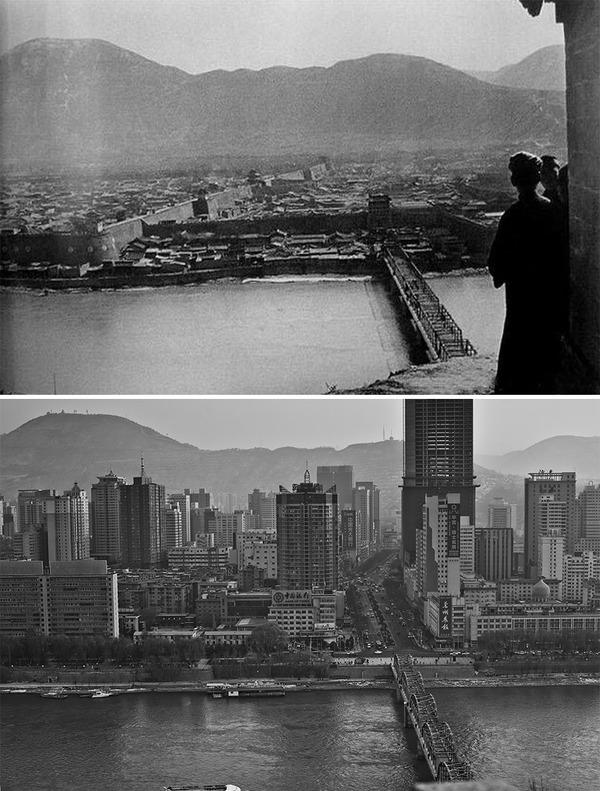 発展した中国の都市風景を比較!過去と現在の画像100年 (14)