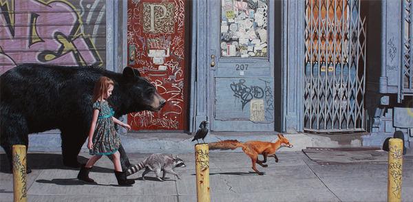 少女と動物と街。壊れた世界のコントラストをリアルに描く (4)