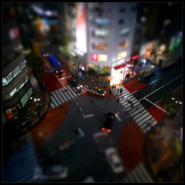 ミニチュアジオラマ風の東京の写真!チルトシフト (1)