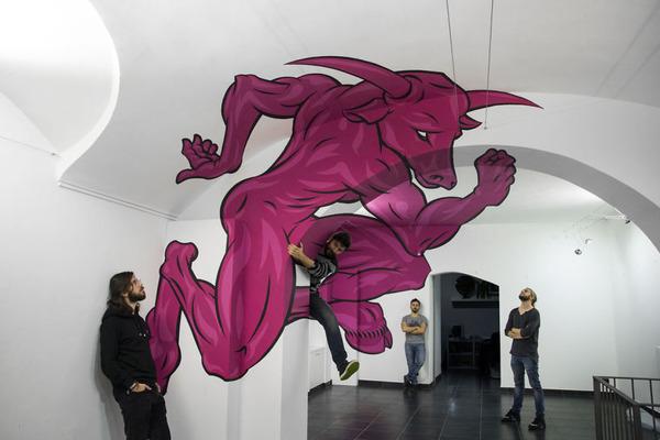 立体的なグラフィティアート!アナモルフィックで3Dな壁画 (7)