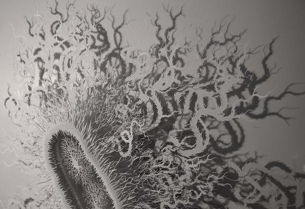 カットして作られた紙のアート3