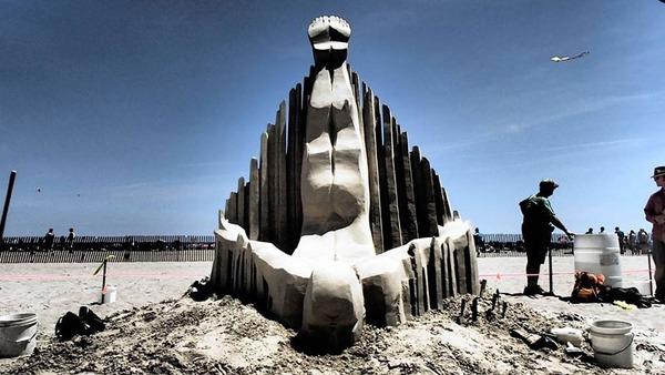 砂の彫刻コンテスト ハンプトン・ビーチ (2)