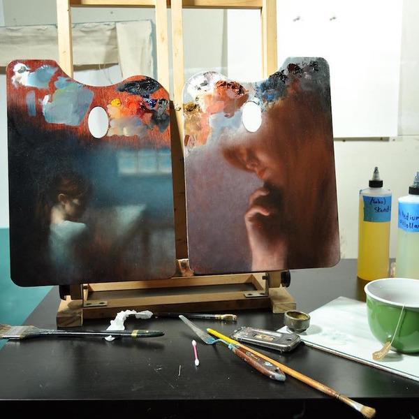 パレットをキャンバスにして描かれた絵画作品 (7)