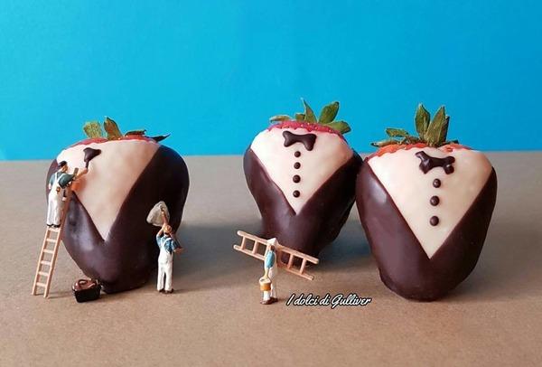 美味しそうな洋菓子で作るミニチュアアート (3)