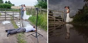 華やかな結婚写真の裏で頑張るカメラマンの努力!画像21枚
