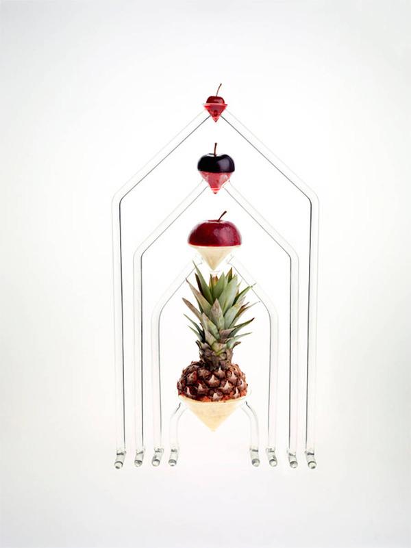 フルーツを飾るためのガラスのユニークデザイン (4)
