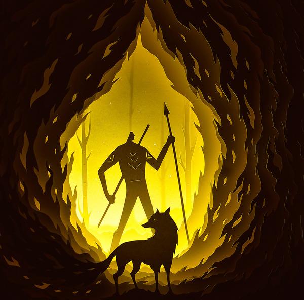 紙のジオラマ!幻想的な架空世界を描くペーパーアート (7)