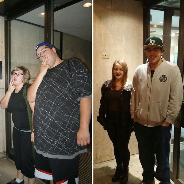 【比較画像】太ったカップルが痩せた (10)
