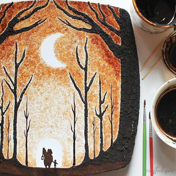 美しいコーヒー画,珈琲画 (4)