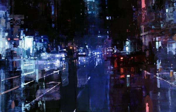 ぼんやり美しい。朧げに描かれる都市景観の油絵作品 (2)