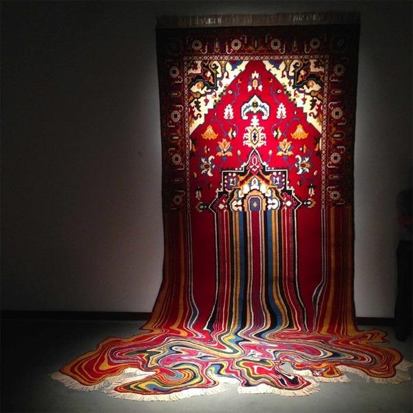 歪む、溶ける、飛び出す!不思議な形をした絨毯 (8)
