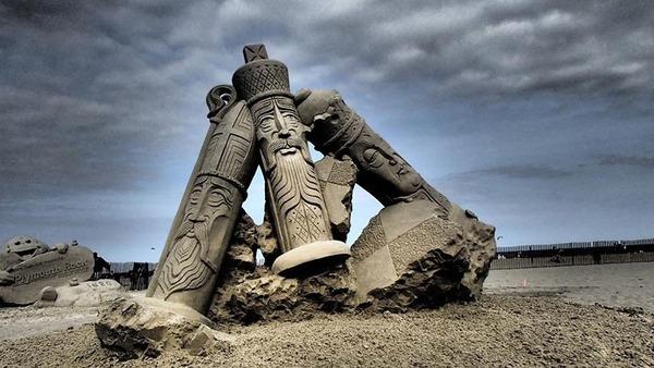 砂の彫刻コンテスト ハンプトン・ビーチ (14)
