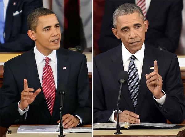 老けちゃった…アメリカ合衆国の大統領の姿!【比較画像】 (10)