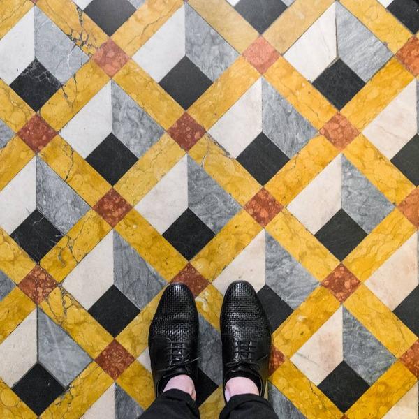 色んな床いっぱい。イタリア、ヴェネツィアの床のデザイン (12)