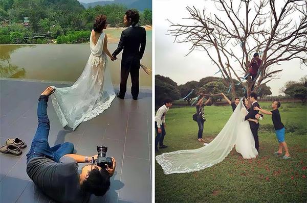 結婚写真の裏で頑張るカメラマンの努力画像 (19)