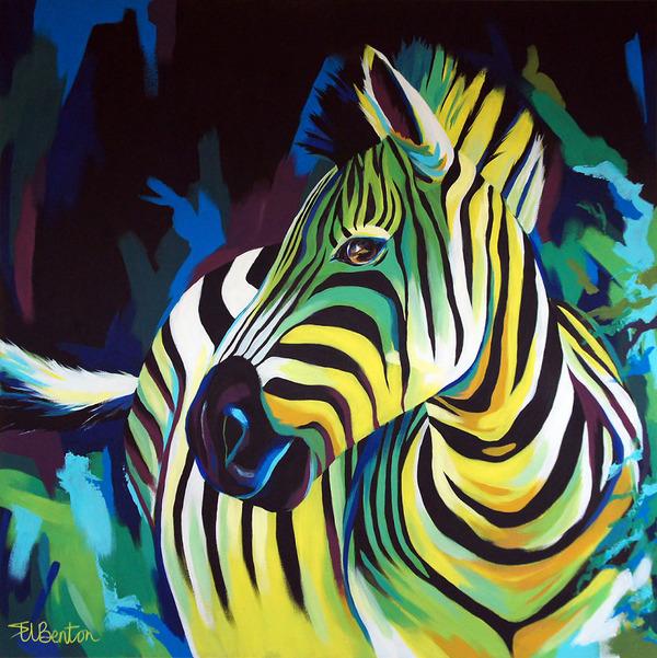 超カラフルな動物の肖像画シリーズ (21)