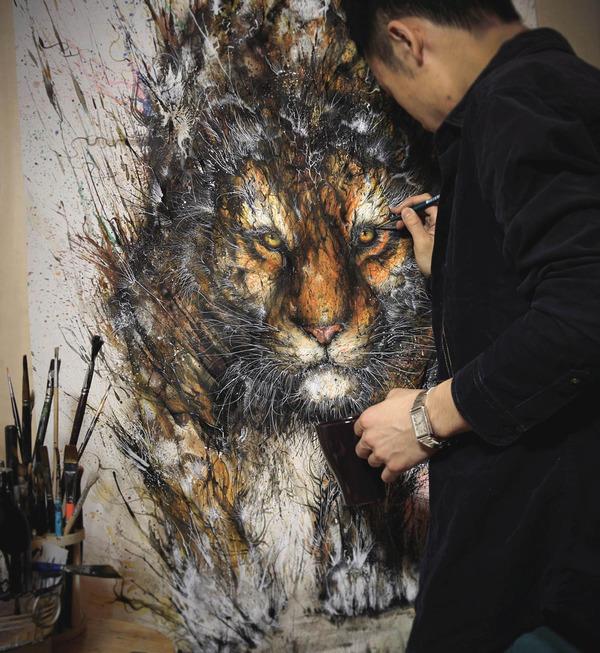 虎の水墨画 -HUA TUNAN- 画图男 3