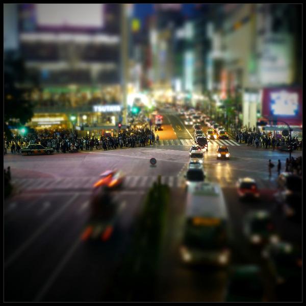 ミニチュアジオラマ風の東京の写真!チルトシフト (3)