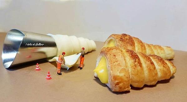 美味しそうな洋菓子で作るミニチュアアート (7)