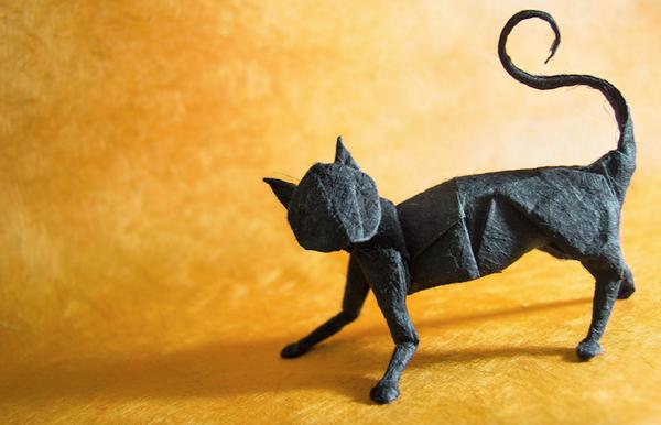 一枚の紙から折り紙で作る動物!折り紙アート (7)