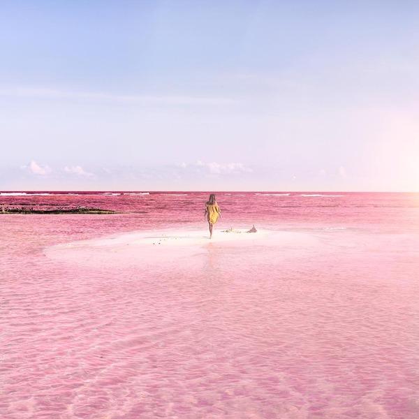 メキシコの塩湖が美しいピンクでミラクルファンシーだよー (3)