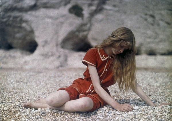 100年前のカラー写真,クリスティーナ,オートクローム 3